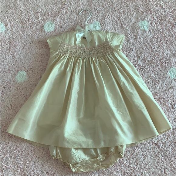 Bonpoint Other - Bonpoint Couture silk Baby girl dress/bloomer 18M